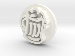 Soap Stamp - Beer Mug in White Strong & Flexible Polished