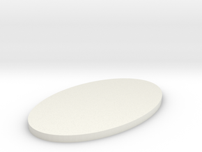 Oval emblem thick in White Natural Versatile Plastic
