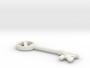 Oz key in White Natural Versatile Plastic