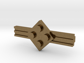 Brick Tie Clip-4 Stud in Natural Bronze