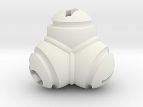 Tetrablob (large) in White Natural Versatile Plastic