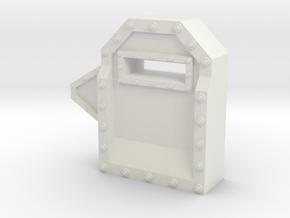 Wall Segment Right Gun Port in White Natural Versatile Plastic