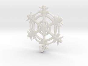 Snowflake Earring in White Natural Versatile Plastic