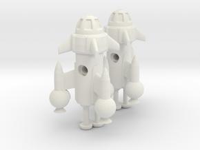 "R-Rocket ""Mercury""-Class Tiny in White Natural Versatile Plastic"