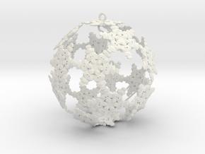 SnowBauble Initials in White Natural Versatile Plastic