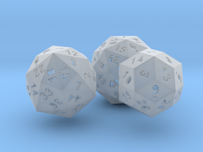Catalan dice bundle 3 in Smooth Fine Detail Plastic