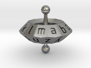Space alphabet in Natural Silver