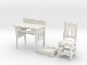 desk set in White Natural Versatile Plastic