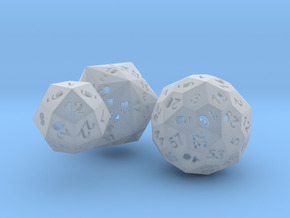 Catalan dice bundle 2 in Smooth Fine Detail Plastic