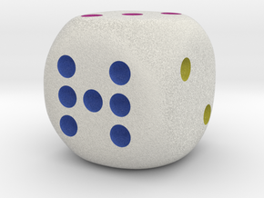 Lucky 7 Dice in Full Color Sandstone