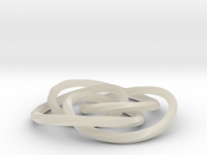cycloidal knot in White Acrylic