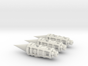 Molemen Type 1 3-pack in White Natural Versatile Plastic