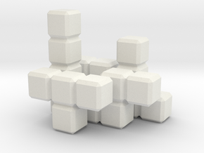 Tetris Blocks in White Strong & Flexible