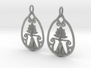 Art Nouveau Goddess of Progress Earrings in Metallic Plastic