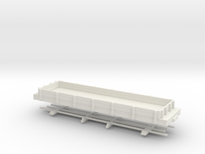 HOn30 28ft low sided gondola in White Natural Versatile Plastic