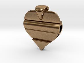 Secret Love Pendant in Natural Brass