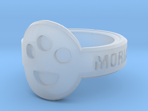 The Post-Human Society Ring in Smooth Fine Detail Plastic
