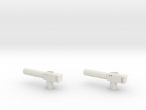 Sunlink - Barrel v1 Gun x2 in White Strong & Flexible