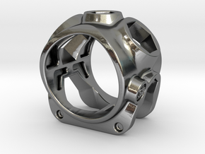 1086 ToolRing - size 9 (18,90 mm) in Polished Silver