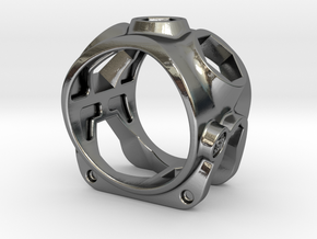 1086 ToolRing - size 12 (21,40mm) in Polished Silver