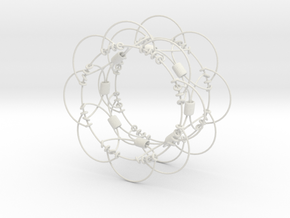 Wire Sphere (Small) in White Natural Versatile Plastic