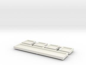 Glyph Plates in White Natural Versatile Plastic