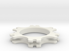 SB5 Brake Disc Guide in White Natural Versatile Plastic