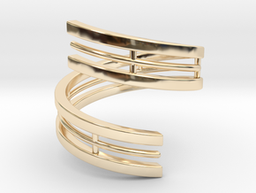 Bars & Wire Ring Size 6 in 14K Yellow Gold