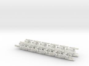 HOn30 Freight trucks 12 pairs in White Natural Versatile Plastic