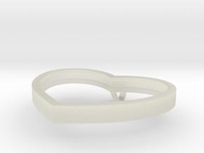 Heart Pendant in Transparent Acrylic