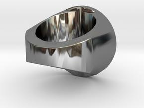 Zwetplassers Zegelring Met Tekst in Fine Detail Polished Silver