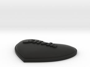 Heart Pendant Silvia insert in Black Strong & Flexible