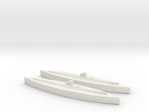 U-25 (Type IA) 1:1800 x2 in White Natural Versatile Plastic