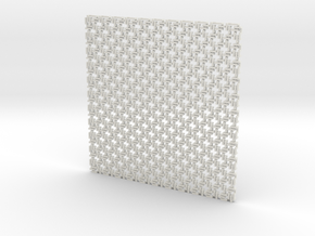 Square Maille flat N coaster (1) in White Natural Versatile Plastic