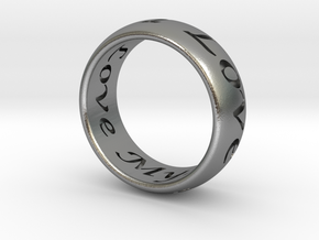 Custom Ring Inscription in Raw Silver