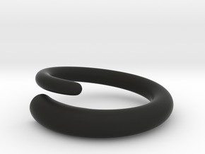 Snap ring. Size 17.5mm in Black Strong & Flexible