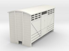 OO9 Cattle van (long) planked door  in White Natural Versatile Plastic