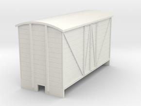 OO9 Goods van (long) Panel door in White Natural Versatile Plastic