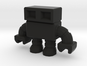 robot 0013 mini - 1.5 inch in Black Strong & Flexible