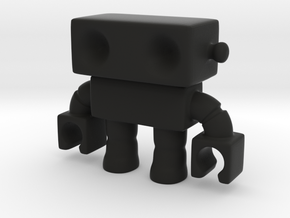 Cool! Modified Robot 14... Smooth! in Black Strong & Flexible