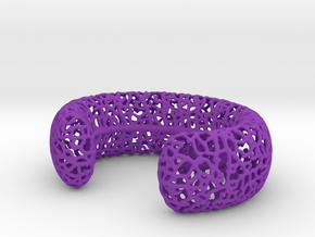 Hyphae Cuff sz M in Purple Strong & Flexible Polished