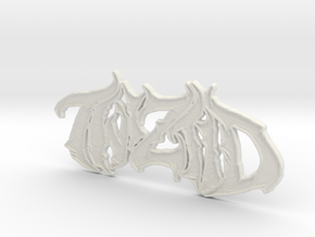 Twiztid Logo in White Natural Versatile Plastic