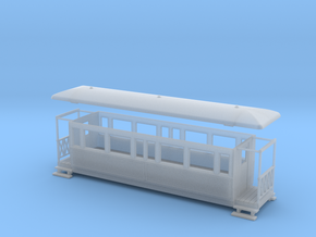 OO9 Tramway bogie coach in Frosted Ultra Detail