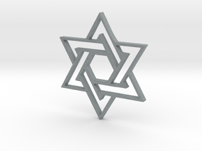 Star of DAVID in Polished Metallic Plastic