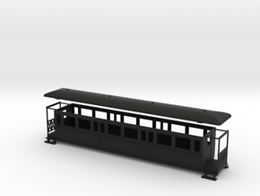 OO9 large tramway coach in Black Strong & Flexible