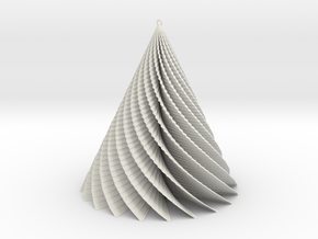 Christmas Tree swirl  in White Natural Versatile Plastic