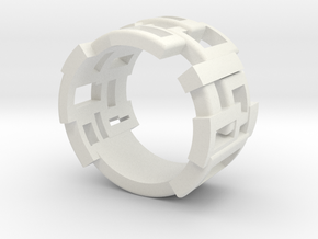 Box ring large in White Natural Versatile Plastic
