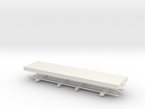 HOn30 28 ft Underframe  in White Natural Versatile Plastic