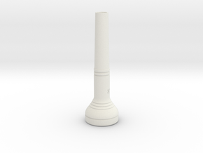 """3c"" Size Trumpet Mouthpiece in White Natural Versatile Plastic"