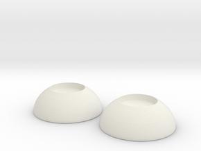 BJD Eyes 12mm  in White Natural Versatile Plastic